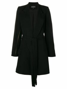 Ann Demeulemeester split seam coat - Black