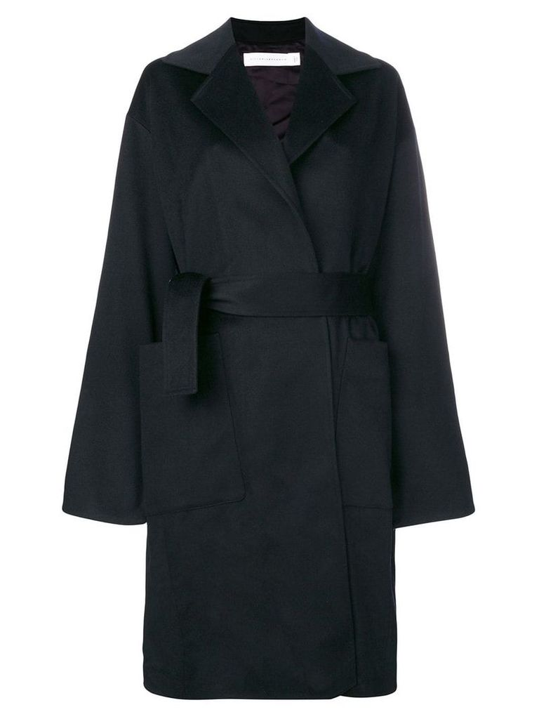 Victoria Beckham single-breasted belted coat - Blue