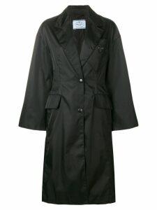 Prada single breasted coat - Black