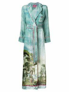 F.R.S For Restless Sleepers Roda printed robe - Blue