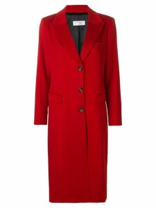 Alberto Biani single breasted buttoned coat - Red