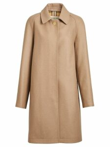 Burberry Cashmere Car Coat - Neutrals