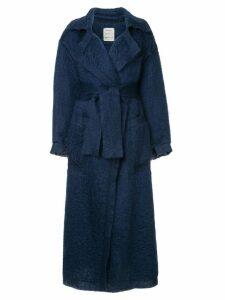 Maison Rabih Kayrouz belted midi coat - Blue