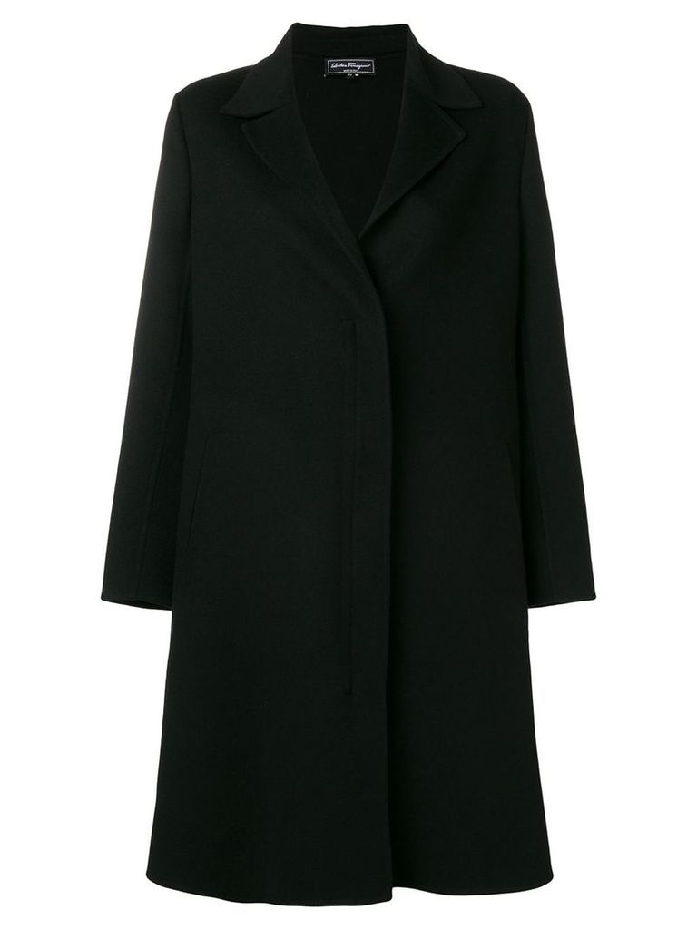 Salvatore Ferragamo classic midi coat - Black