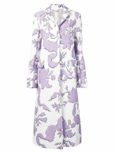 Jil Sander patterned single-breasted coat - White
