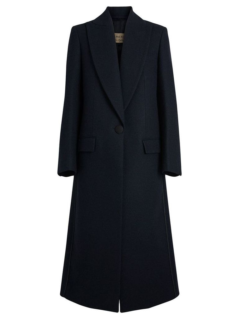 Burberry Cashmere Tailored Coat - Blue