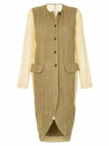 Uma Wang insert detail coat - Brown