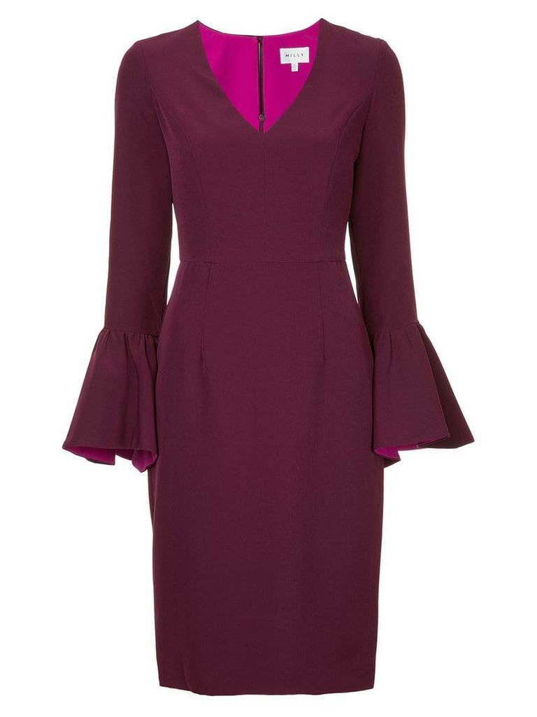 Milly wide-sleeved dress - Pink