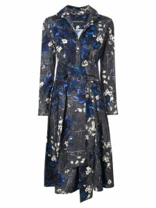 Samantha Sung printed midi dress - Black