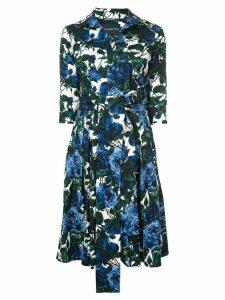 Samantha Sung printed mini dress - Blue