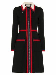 Gucci Zipped Jersey Dress - Black