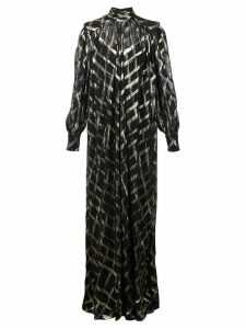 Alberta Ferretti oversized roll neck maxi dress - Black