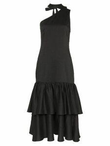 Rejina Pyo Tiered Drop Hem Cotton Midi Dress - Black
