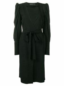Federica Tosi waist bow detail dress - Black