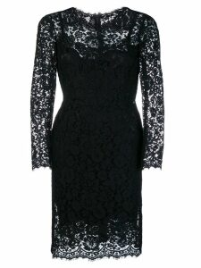Dolce & Gabbana fitted lace dress - Black