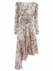 Preen By Thornton Bregazzi floral print asymmetric dressout - PINK