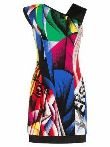 Versace short printed dress - Red