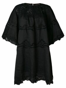 Isabel Marant embroidered flared mini dress - Black
