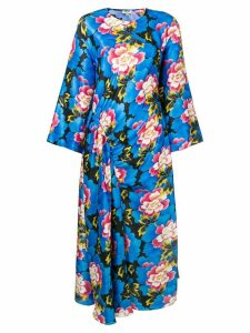 Kenzo relaxed fit floral dress - Blue