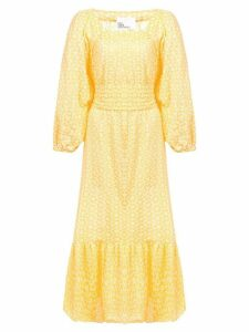 Lisa Marie Fernandez long square neck printed dress - Yellow