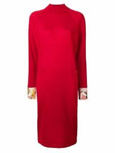 Emilio Pucci printed silk cuff shift dress - Red