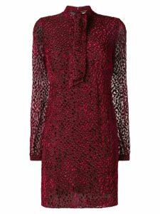 Saint Laurent devoré mini dress - Red