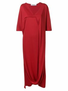 Chalayan V-neck draped dress - Red