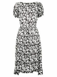 Comme Des Garçons Comme Des Garçons floral print pleated dress - Black