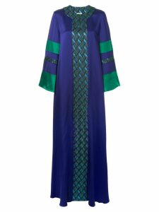 Layeur printed long dress - Purple