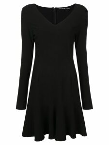 Josie Natori ruffle hem dress - Black