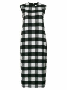 Peter Jensen sleeveless check dress - Black