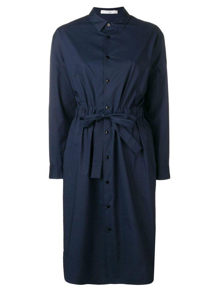 Knott drawstring waist shirt dress - Blue
