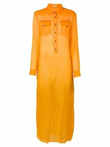 Tomas Maier long shirt dress - Orange