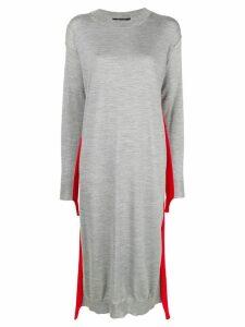Sofie D'hoore stripe detail sweater dress - Grey