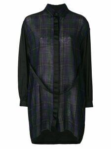 Diesel plaid shirt dress - Black