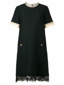 Gucci pearl-embellished shift dress - Black