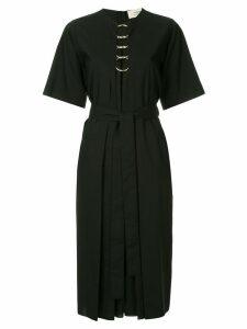 Ports 1961 O-ring detail belted dress - Black