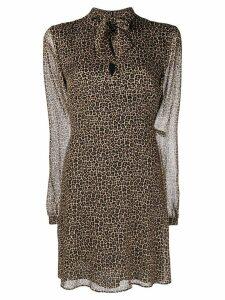 Saint Laurent lightweight mini dress - Brown