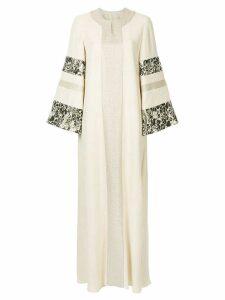 Layeur long flared dress - Neutrals