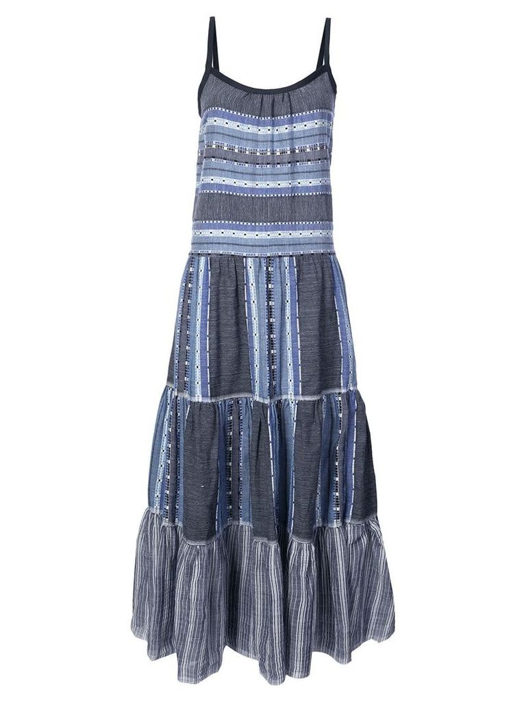 Lemlem striped full dress - Blue