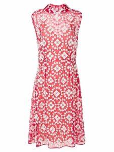 Miu Miu lace layer dress - Red