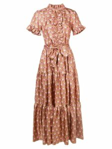 La Doublej ruffled geometric print dress - Pink