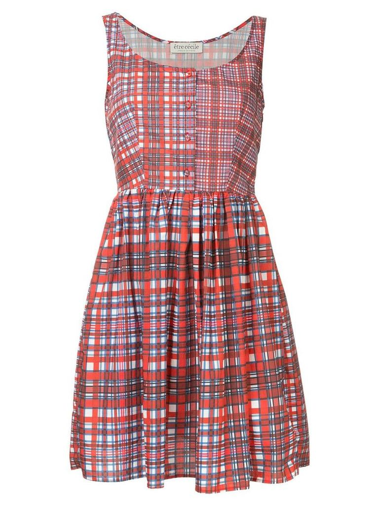 Être Cécile Phoebe checked dress - Red