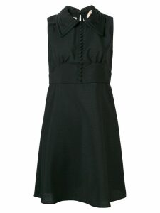 Nº21 micro button dress - Black