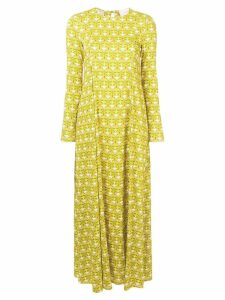 La Doublej geometric print dress - Yellow