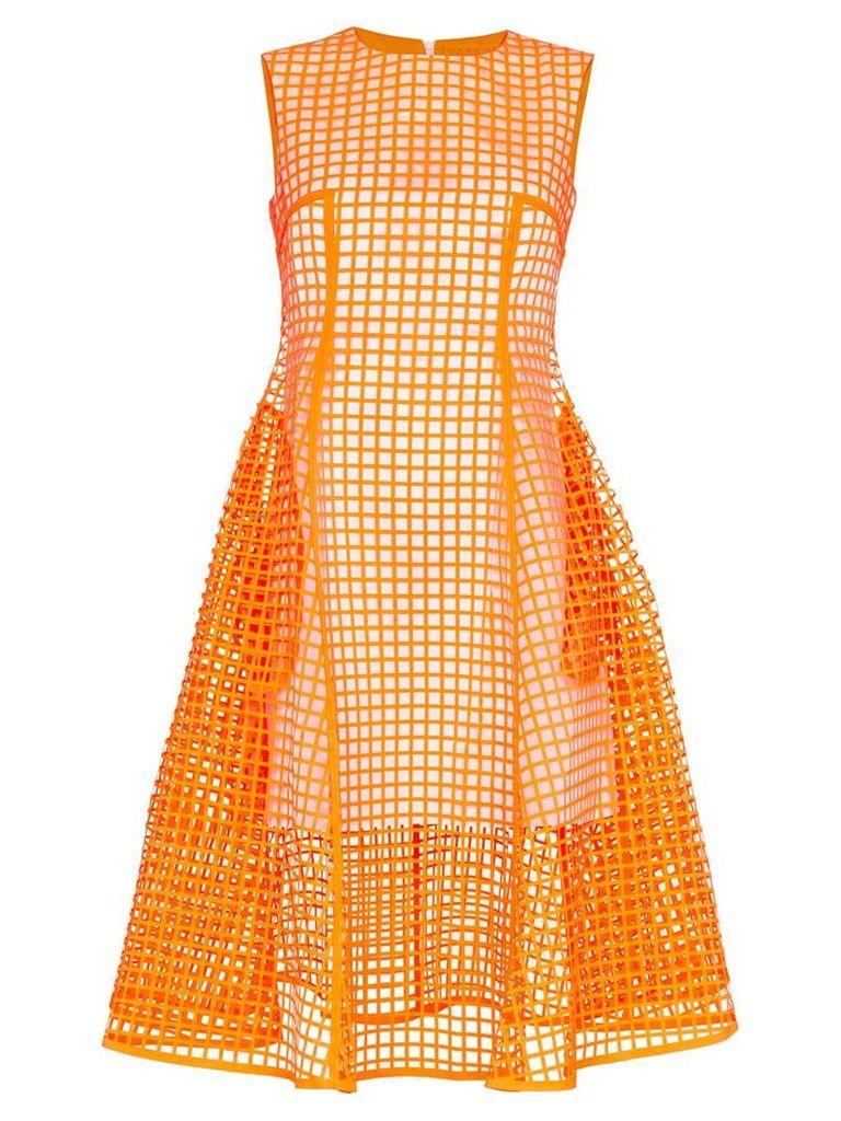 Paskal midi squared dress - Orange