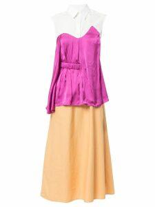 Aalto deconstructed shirt dress - Multicolour