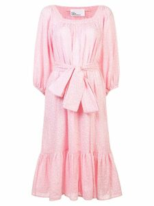 Lisa Marie Fernandez tie waist tiered dress - Pink