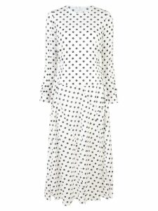 Julien David longsleeved spot print dress - White