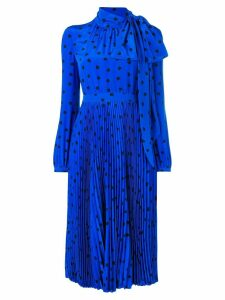 Valentino heart print midi dress - Blue